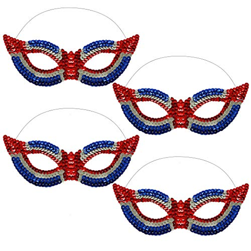 Joyibay 4 STÜCKE Party Maske Kreative Elegante Pailletten Maske Kostüm Maske für - Kreative Elegante Kostüm