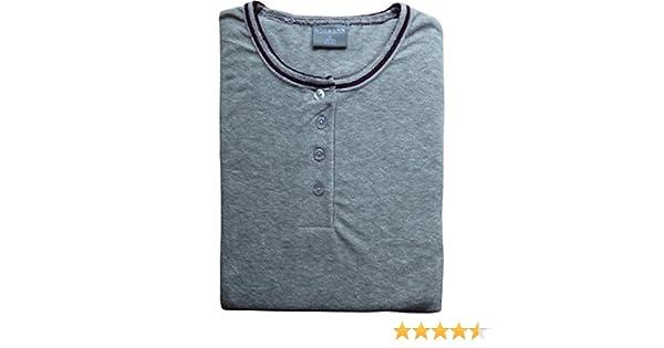 Damen Frottee Pyjama Knopfleiste Ringel Hose Übergrößen Bündchen 60116