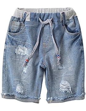 Lau's Pantalón Vaquero Corto Niño - Shorts Vaqueros Rotos - Pantalones Cortos para Niños