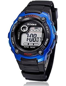 Children 's wasserdicht electronic watch student luminous chronographen sport-D