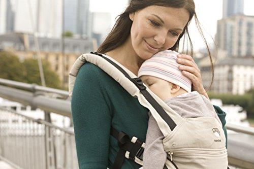 manduca First Babytrage > Sand <| Das Original aus Hanf und Biobaumwolle | Atmungsaktiv | Patentierte Rückenverlängerung | Mitwachsend von 3,5kg bis 20kg