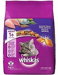 Whiskas Adult Cat Food Pocket Mackerel, 3kg Pack