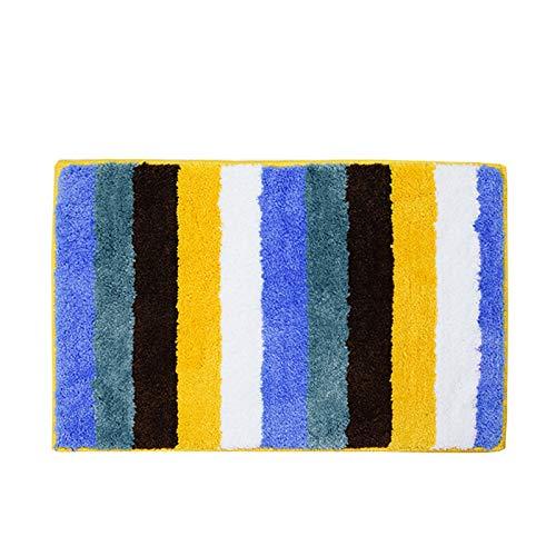 XQY Fußmatten, Fußmatten, Teppiche, Hochwertige Gestreifte Fußmatten, Super-Faser-Teppiche, Küche Bad Absorbierende Matten,B,39 * 59 cm