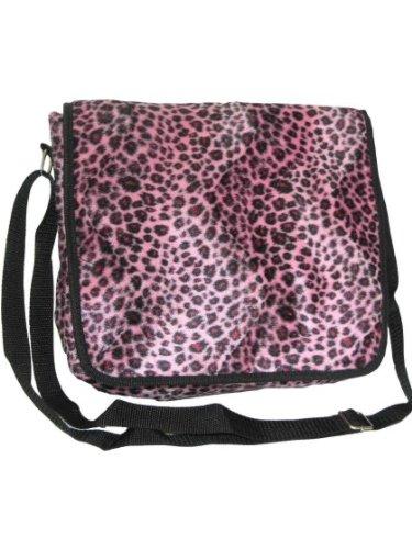 Webpelztasche motif léopard rose
