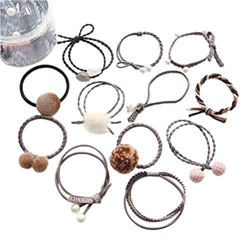 Band Metal Kostüm Hair - xmansky Hair Pins Decorative Handmade Artificial Hair Barrettes Hair Pins Hair Clips Hair Accessories,Frauen arbeiten beiläufiges nettes Headwear elastisches Haar-Ring-Haar-Seil um
