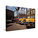 Premium Textil-Leinwand 45 cm x 30 cm quer, US Oldtimer on Havanna, Kuba | Wandbild, Bild auf Keilrahmen, Fertigbild auf echter Leinwand, Leinwanddruck (CALVENDO Orte)