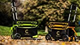 Angelbox mit Räder | Angelkoffer | Fishing Box | Kühlbox für Angler | Set-Box Premium mit 4 Räder (Sonderfertigung) (Orange)