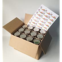 24 barattolo di marmellata, esagonale, incl. Coperchio d'argento per vasetti di marmellata, retro, H1