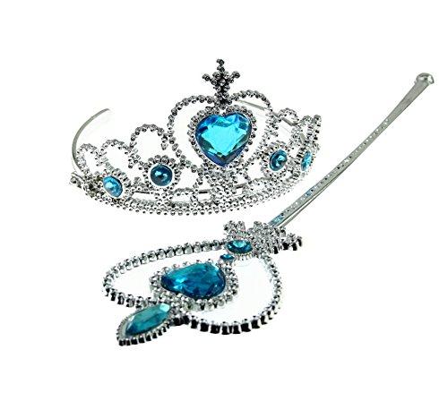 Fun Daisy - Kit da principessa, comprensivo di corona da indossare sulla testa e bacchetta magica