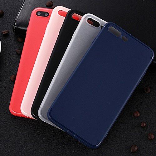 JIALUN-étui pour téléphone Pour Apple IPhone 7 Plus Housse en douceur, housse de couverture en couleur solide Shock Back Case ( Color : Red ) Black