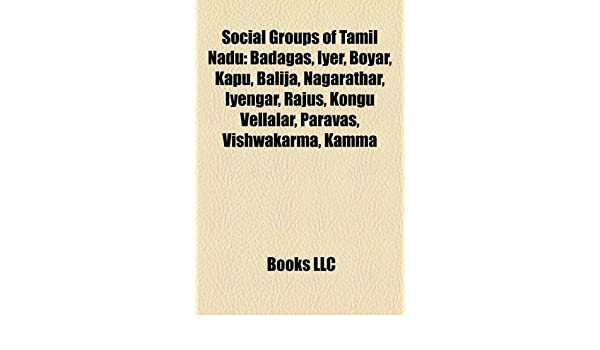 Amazon in: Buy Social Groups of Tamil Nadu: Badagas, Kongu