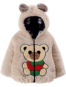 Babykleidung,Sannysis Baby Säugling Herbst Winter Kapuzenmantel Umhang Jacke Dicke Warme Kleidung(6-24Monat) (...