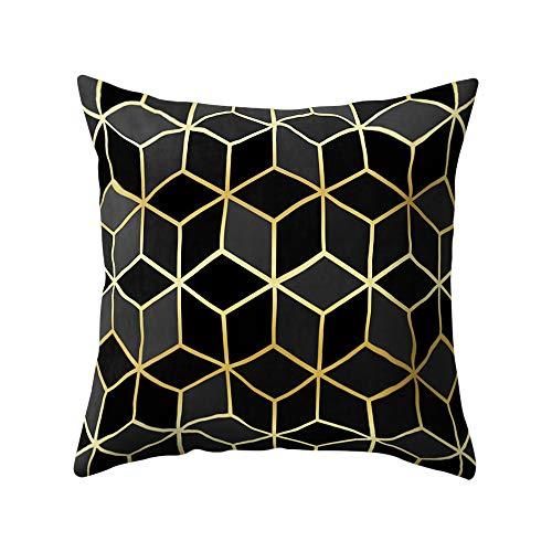 FeiliandaJJ Kissenbezug Platz Muster Kissenhülle Kopfkissenbezug Home Dekoration Pillowcase Super Weich Sofakissen für Wohnzimmer Sofa Bed,45x45cm (A) (Home-wohnzimmer Dekorationen)