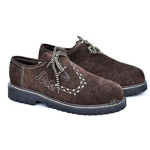 ATTONO Trachtenschuhe Fashion Outdoor Trachten Lederschuhe Herren Schuhe - Größe 42