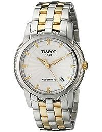 Tissot T97248331 - Reloj analógico de caballero de cuarzo con correa de acero inoxidable multicolor
