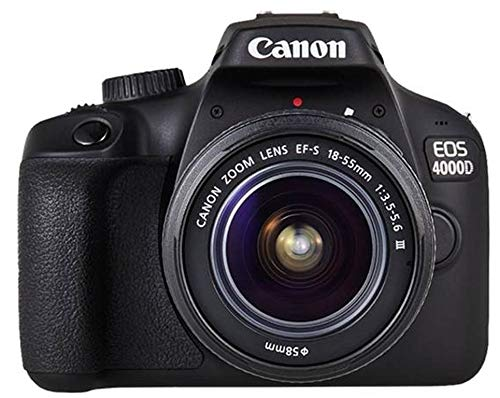 Canon Kit EOS 4000D CÁMARA Reflex 18MP Full HD DIGIC4+ WiFi + Objetivo EF-S 18-55mm + Bolsa DE...