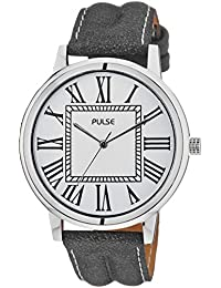 Pulse Analog White Dial Men's Watch - PL0605