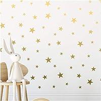 Gold Stars Stickers - Étoiles d'or mur vinyle autocollant autocollants Polka Decor autocollant pour chambre d'enfant…