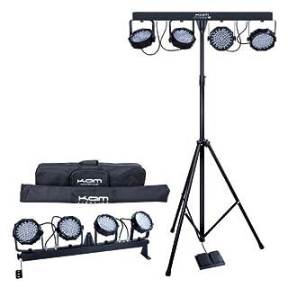 Kam LED Partybar V2Black- Disco accessory (Black, LED, 81 lights, alternating current, 100-240, 50/60).