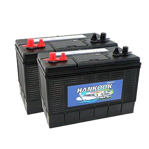 2x-hankook-100ah-loisirs-batterie-caravane-bateau-camping-car-4-ans-de-garantie