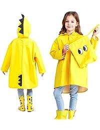 Lindo dinosaurio ángel impermeable de poliéster para niños divertido ligero al aire libre dibujos animados chaqueta de lluvia para niños o niñas