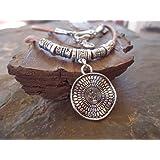✿ MANDALA COLLAR ✿ collar de cuero en arena