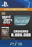 Grand Theft Auto Online   GTA V Megalodon Shark Cash Card   8,000,000 GTA-Dollars   PS3 Download Code - deutsches Konto