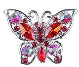Landsell Fashion Damen Brosche Schmetterling Kleidung Zubehör, rot, 5.3 * 5CM