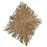 LEBENSwohnART Wand-Deko-Objekt CABANG Braun ca. 60x60cm Holz Äste Wandbild Quadrat Accessoire