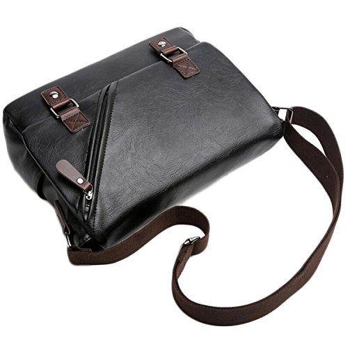 Borsa Tracolla Uomo Messenger Bag Busta Borsa Di Affari Degli Uomini Selvatici Casuale Black