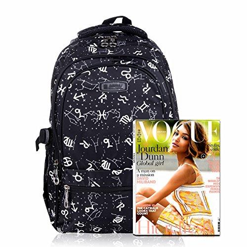 Imagen de vbiger niños  bolsa viaje  escuela con correas ajustables negro  alternativa