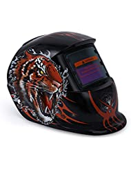 YALTOL Solar Power Welding Helmet Mask Tiger Pattern Electrical MIG MMA Skull Mask Oscurecimiento automático Máscara