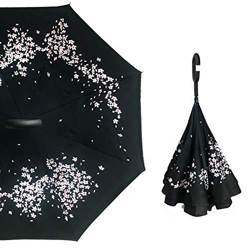 Invertir Hombre del Paraguas invertido Paraguas Paraguas manija de C a Prueba de Viento Mujeres Sol y la Lluvia contra los Rayos UV Parapluie, Paraguas N