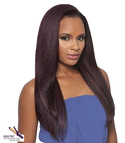 DOMINICAN BLOW OUT STRAIGHT BUNDLE HAIR (2 Dark Brown) - Outre Batik Quick Weave Synthetic Half Wig by Quick Weave (Batik Brown Dark)