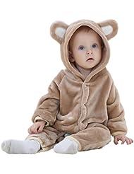 Highdas Primavera Otono Invierno Ropa del beb¨¦ de la franela ropa de nino del beb¨¦ animal de la historieta del mono del beb¨¦ de los mamelucos Ropa de beb¨¦