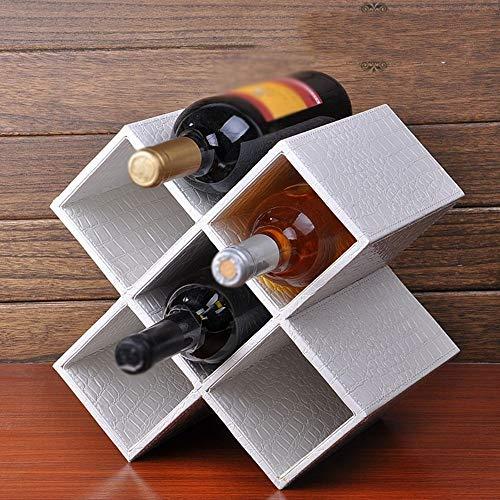 Plus Nahtmaterial (BinLZ Weinregale Massivholz Schwarz Weinschrank Wohnzimmer Bar Handgefertigt, um Jeden Raum zu Erfüllen, Fünf Gitter, Weiß)
