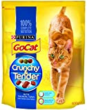 Go-Cat Dry Cat Food Crunchy Tender Salmon, Tuna and Vegetable, 800 g - Pack of 4