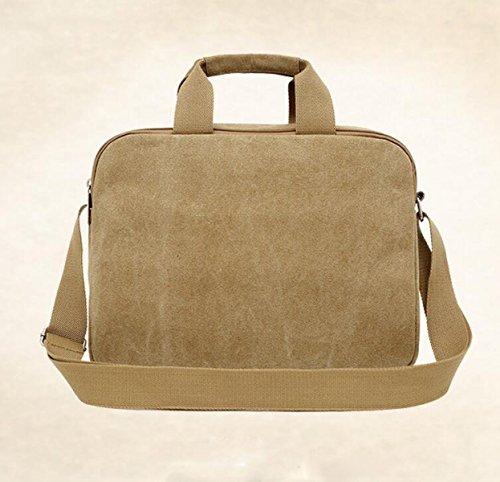 Männer Handtasche Einfache Schulter Messenger Bag Freizeit Retro Leinwand Tasche Green