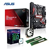 Memory PC Gaming Aufrüst-Kit Intel Core i5-8600K 8. Generation (SixCore) Coffee Lake 6x 3.6 GHz, ASUS ROG MAXIMUS X HERO Z370 Gaming, AURA LED-Beleuchtung, 16 GB DDR4 2133Mhz, 1792 MB Intel UHD 630 Grafik 4K, USB 3.0, USB 3.1, USB 3 Typ C, USB 2.0, WI-FI AC, Bluetooth V4.2, SATA3, M.2 Sockel, Sound, GigabitLan, HDMI, Display-Port, GAMING-KIT, CoffeeLake, komplett fertig montiert und getestet
