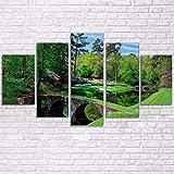 DOORWD Wandbilder Home Dekorativ Modern 5-teilig Großplakat Leinwanddruck Grüne Wiese 30x40cmx2 30x60cmx2 30x80cmx1 Kein Rahmen