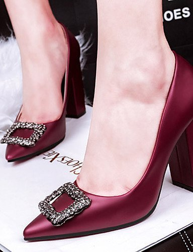 ShangYi Chaussures Femme - Mariage / Habillé - Noir / Vert / Violet / Gris / Bordeaux - Gros Talon - Talons - Talons - Soie Green