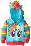 My Little Pony Rainbow Dash Blau Mädchens Kostüm Hoodie Sweatshirt (Mädchens 4)
