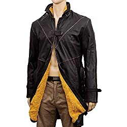 Watch Aiden Dogs Brown Coat - Pearce Distressed Real Leather Trench Costume Jacket