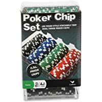 100 Ct. Poker Chips Set 11.5 gram (styles will vary) by Cardinal Industries