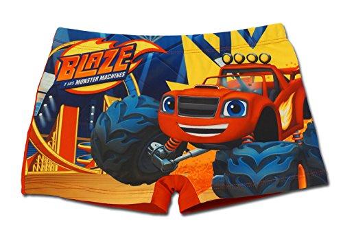 Blaze e le mega macchine - costume costumino boxer parigamba mare piscina - bambino - novità prodotto originale 8491eq [rosso - 3 anni - 98 cm]