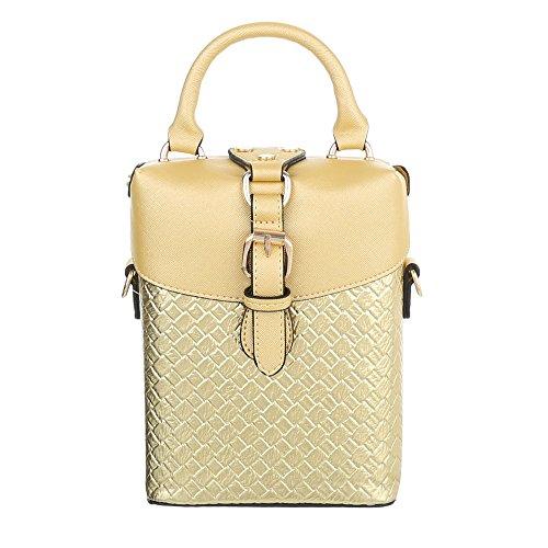 Ital-Design, Borsa a spalla donna Gold