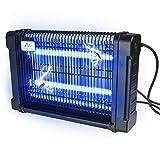 Gardigo Lampe Electrique UV Tue 16W Piège à Abeilles Extérieur 70m² Bac collecteur, Chaîne de Suspension, Argent et Noir