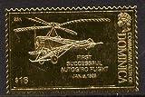 Dominica 1978 History of Aviation (Juan de la Cierva's Autogiro) $16 embossed on 23k gold foil u/m...