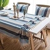 JYY Tischdecken Soft FlaxTable Topper Streifen Tischabdeckung Tischsets Tischschutz Tischwäsche Heimtextilien Esstisch Couchtisch Bar,C-160 * 100CM
