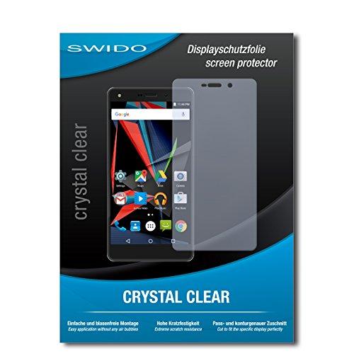 SWIDO Schutzfolie für Archos Diamond 2 Plus [2 Stück] Kristall-Klar, Hoher Härtegrad, Schutz vor Öl, Staub & Kratzer/Glasfolie, Bildschirmschutz, Bildschirmschutzfolie, Panzerglas-Folie
